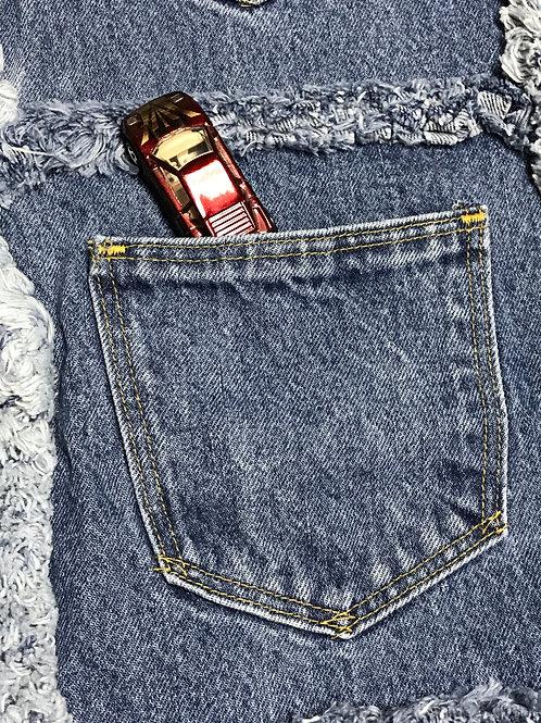 Pick Your Pocket Activity Rag Blanket with Fleece Lining