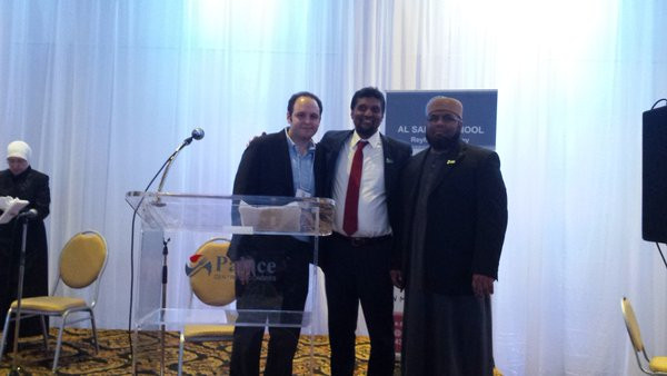 At the right is Imran Ally and on the left isFaisal Asem at the Assalam School Gala in Montreal April 2016