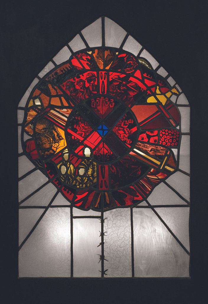 WW1 centenary stained glass panel
