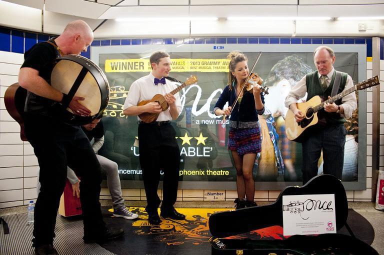 Musicians on London Underground Image