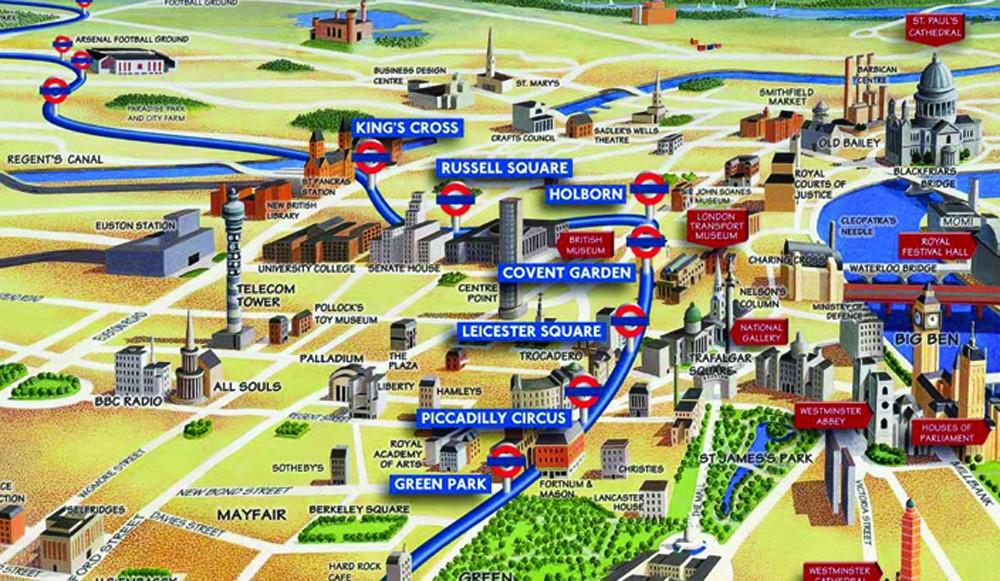 London Visual Map Image