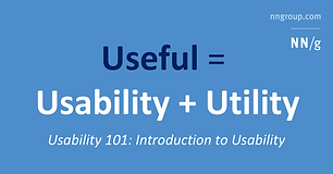 How to define usability? How, when, and where to improve it? Why should you care? Overview defines key usability concepts and answers basic questions.