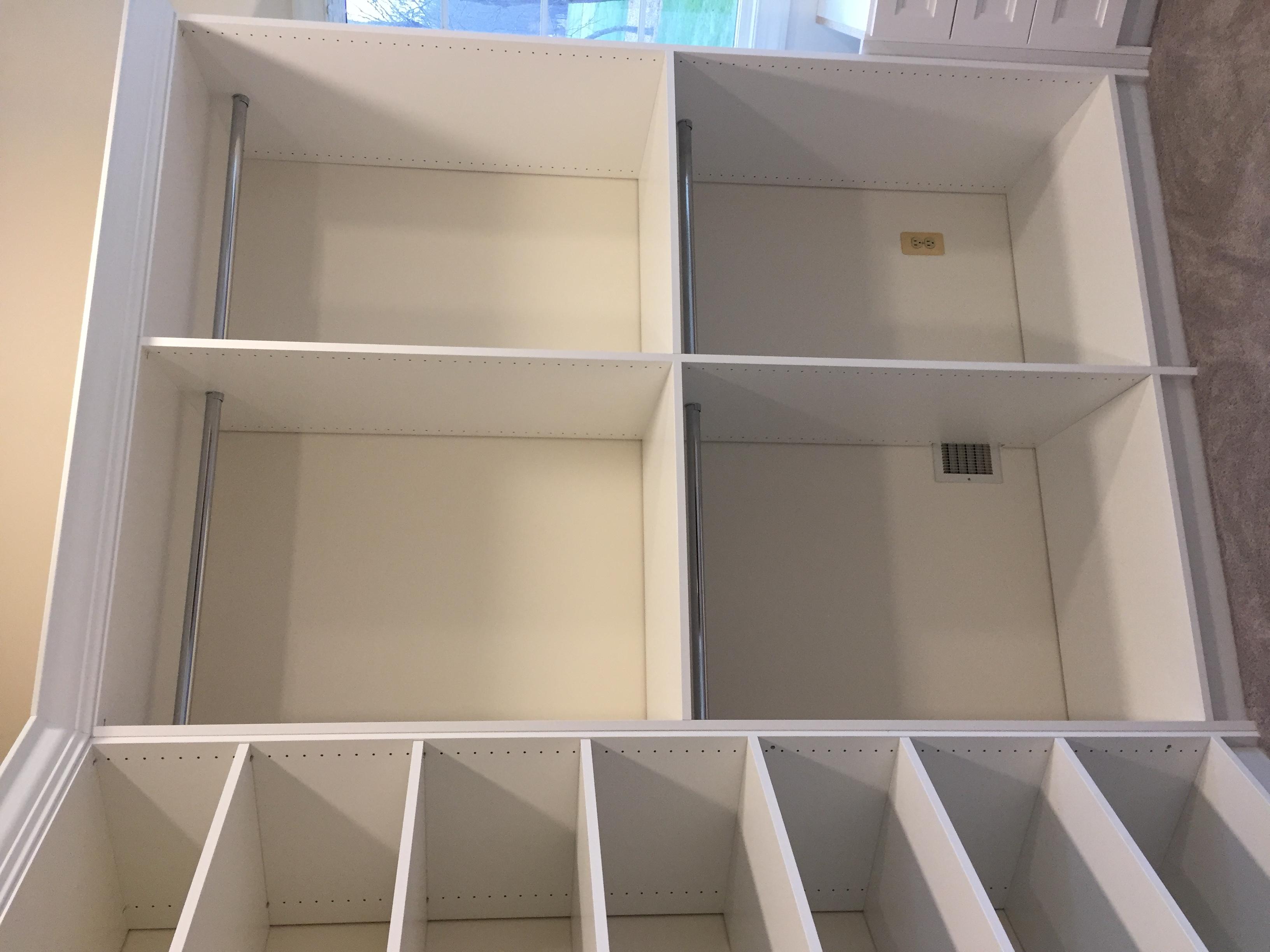 An Angled Wall Closet