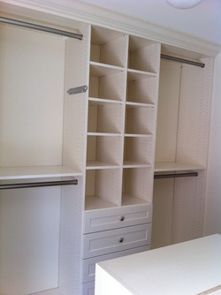 Cubbies over drawers