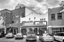 Garden Theatre in Black and White