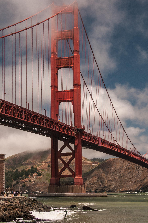 Surfing under the Golden Gate