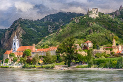 Blue Church on Blue Danube