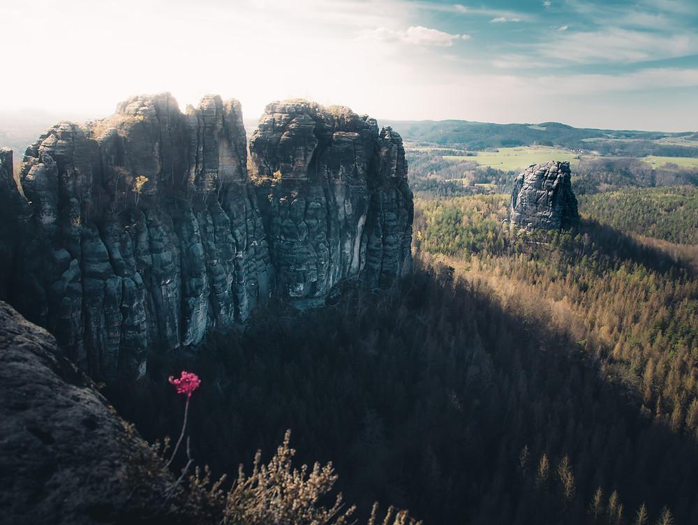 panorama widok Schrammsteine