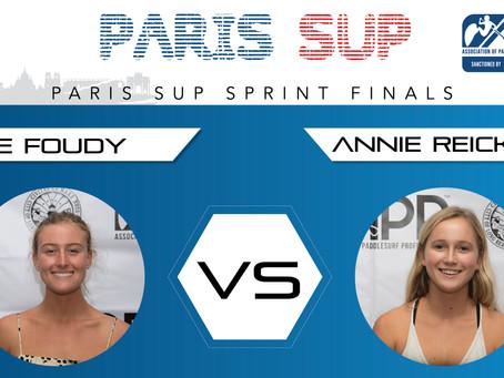 PARIS SUP OPEN WOMEN'S SPRINT FINAL – SHAE FOUNDY VS ANNIE REICKERT