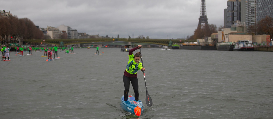Fiona Wylde takes victory in the iconic Paris SUP Open Distance Race and secures 2nd overall