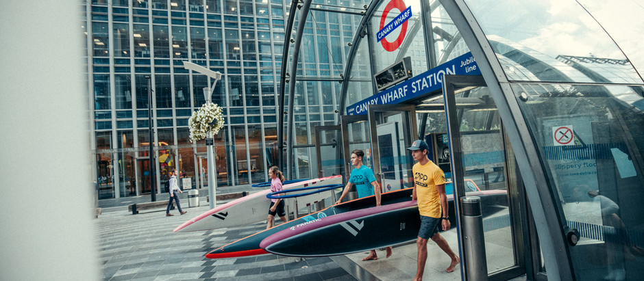 600 People Take to the Canary Wharf Docklands for Two-Day Stand-Up Paddle Spectacle