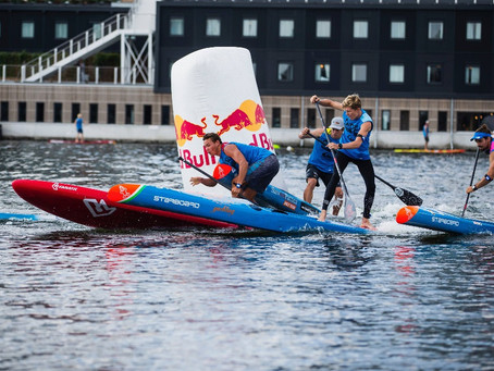 ATHLETES ARRIVE AND THE ACTION HEATS UP FOR THE NY SUP OPEN