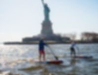 APP New York City Paddle Festival SUP, Stand Up Paddleboarding race, yoga, family fun event