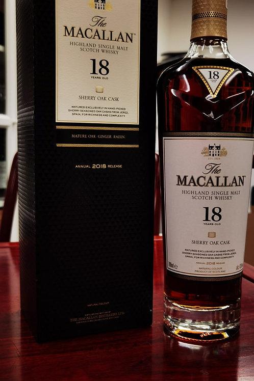 Macallan sherry oak cask 18 years 2018 released