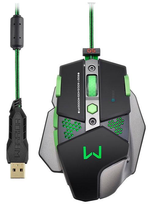 Mouse Warrior Gamer Alumínio 4000DPI MO249 - Multilaser
