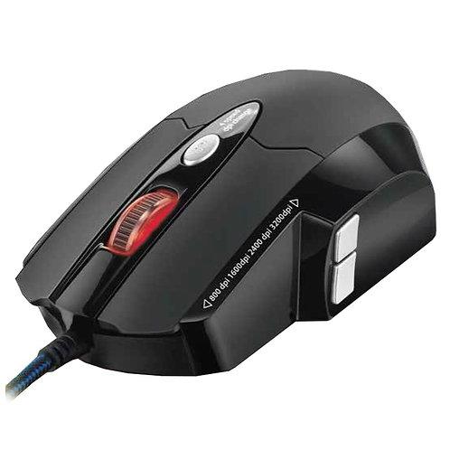 Mouse Gamer Warrior MO191 USB 8 Botoes 3.200 DP - Multilaser