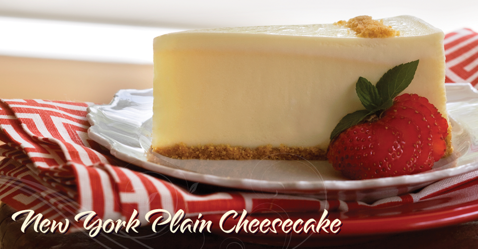 New York Plain Cheesecake