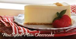 New York Plain Cheesecake
