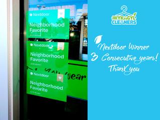 Nextdoor Winner 3 Consecutive years! Thank you