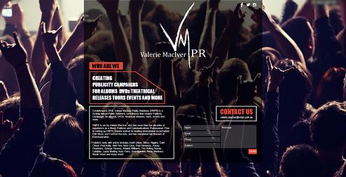 Public Relations Website VMPR.com.au Valerie MacIver Australia Entertainment Music Film Industry Albums DVDs Theatrial Releases Tours Events More