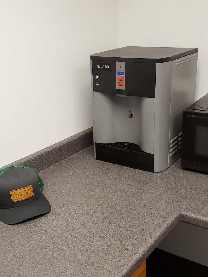 A bottle-less water cooler