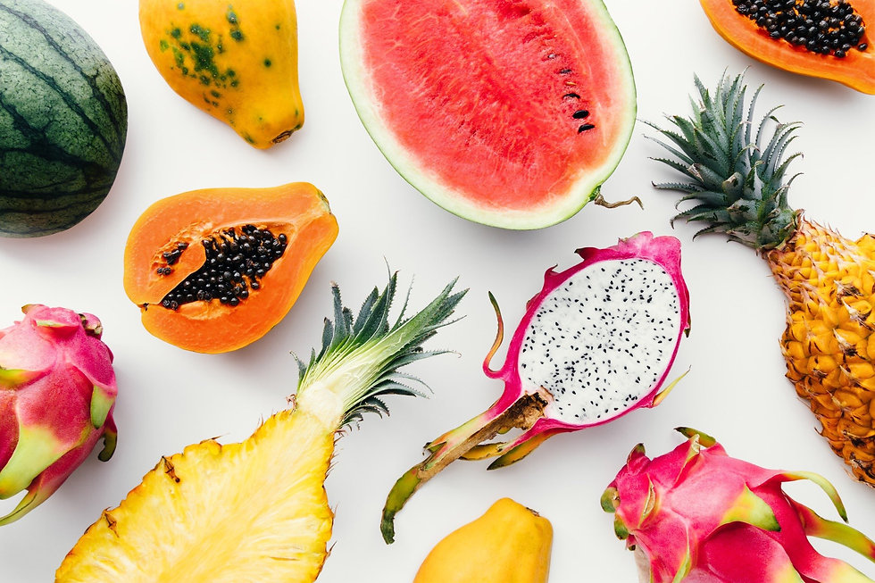 flat-lay-tropical-fruit-layout-made-of-d