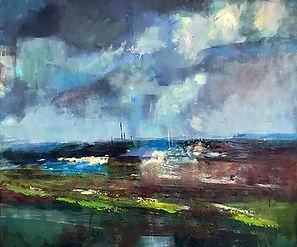 'Towards the Harbour' - 98cm x 98cm (fra