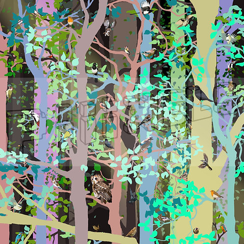 Woodland Birds Print