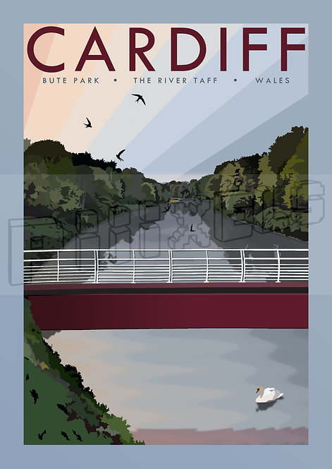 RIVER TAFF CARDIFF POSTCARDS (Pack of 10)