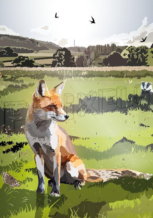 Dinas Fox Greeting Card