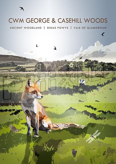 Cwm George & Casehill Woods Print