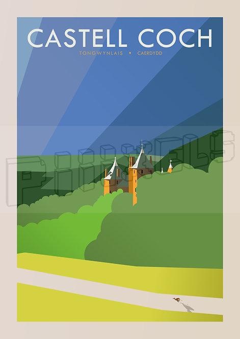 Castell Coch Postcard x5