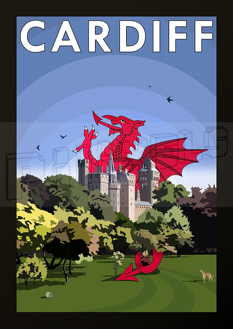 BUTE PARK DRAGON POSTCARDS (Pack of 10)