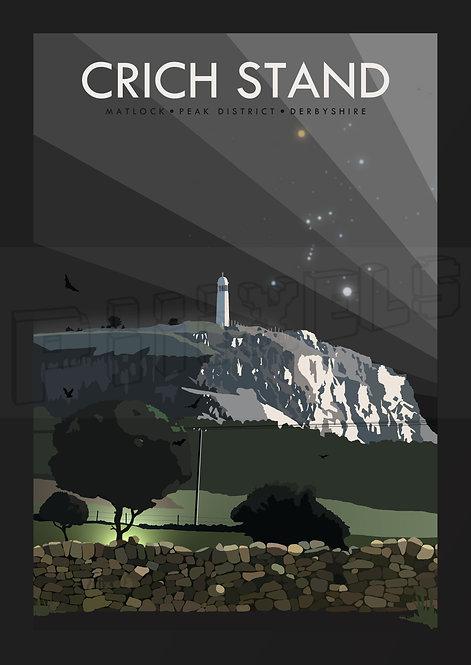 Crich Stand, Derbyshire by Dark Print