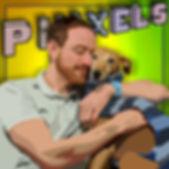 Dog cuddle Piiixels Harri Davison art OMGBarkley