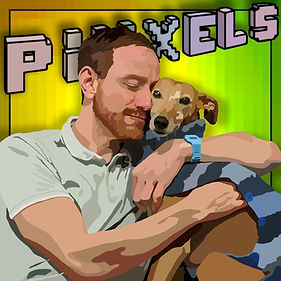 Dog cuddle Piiixels Harri Davison art OMGBarkley