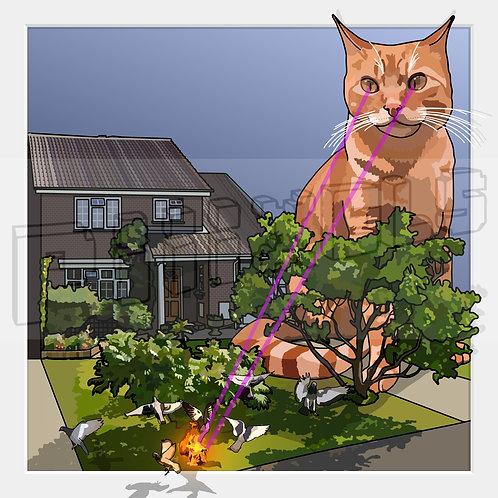 Cat Zap Print