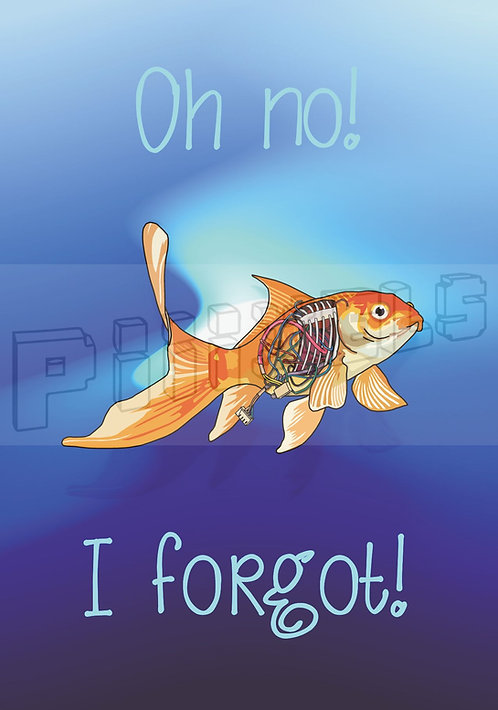 Forgetful Fish Greeting Card