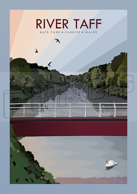 River Taff Print
