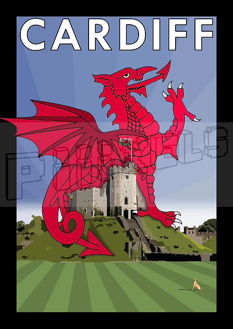 CARDIFF CASTLE DRAGON POSTCARDS (Pack of 10)