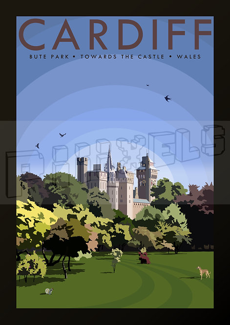 BUTE PARK CARDIFF POSTCARDS (Pack of 10)