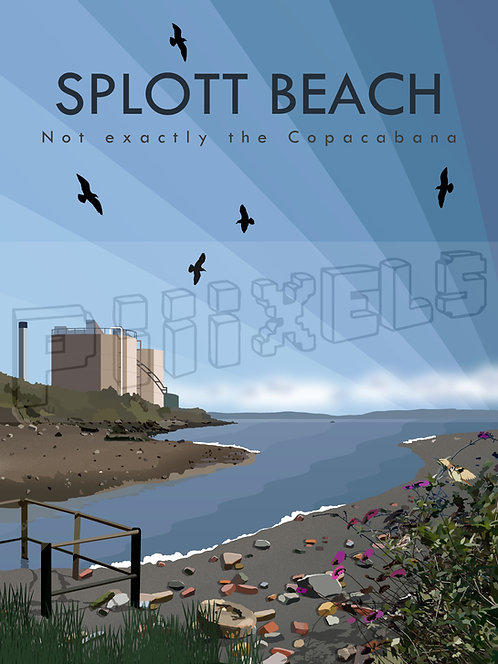 Splott Beach Print