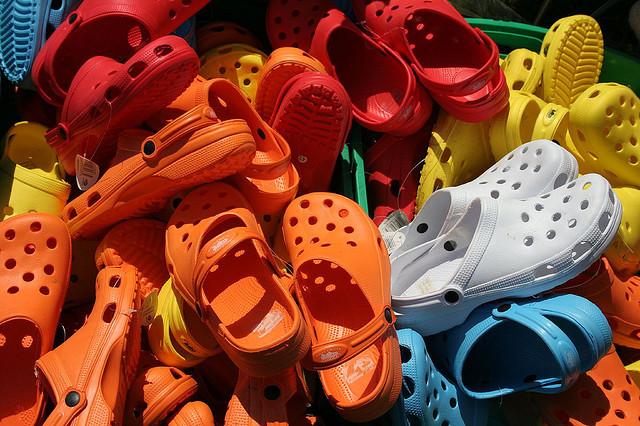 Crocs on crocs on crocs. Credit: Liz Jones / Flickr Creative Commons