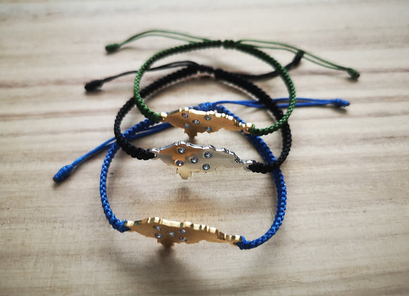 Adjustable Map bracelets