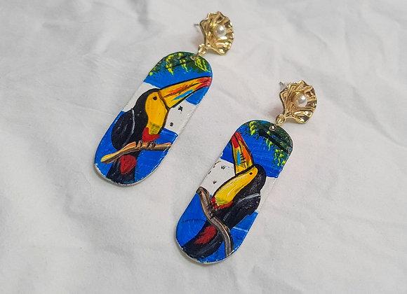 Flag Toucan Earrings
