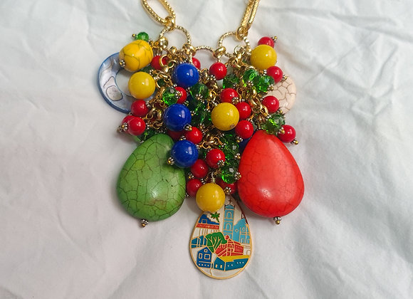 Mi Tierra- Macaw Maxi necklace