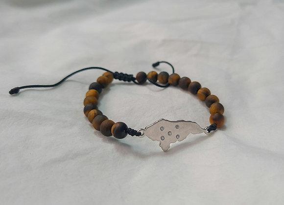 Adjustable Map bracelet