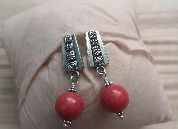 Mayan Glyph Earrings