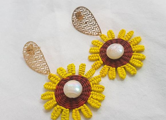 Junco Sunflower Earrings