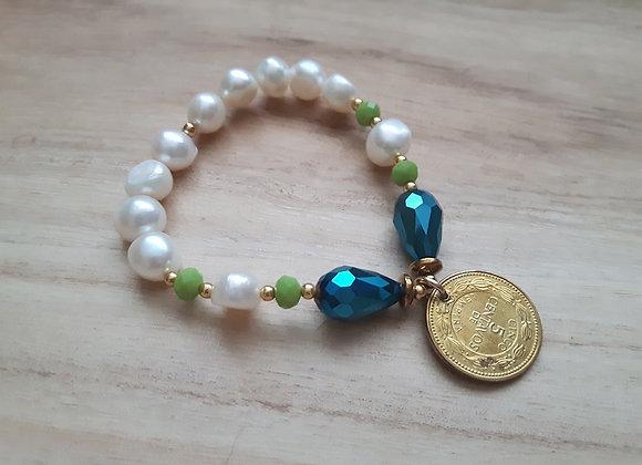 ¨Cinquito¨ Coin Bracelet